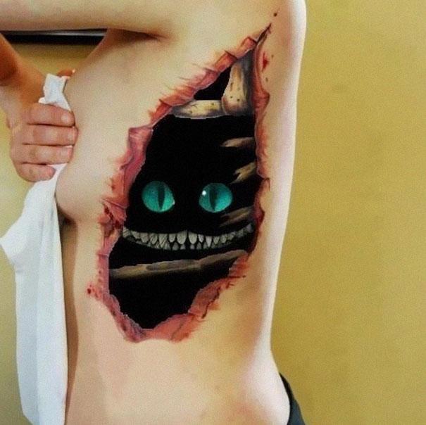 50 impresionantes tatuajes realistas en 3D que te dejarán con la boca abierta. - 10