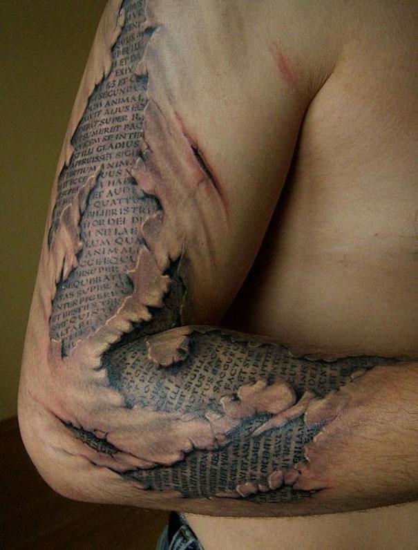 50 impresionantes tatuajes realistas en 3D que te dejarán con la boca abierta. - 32