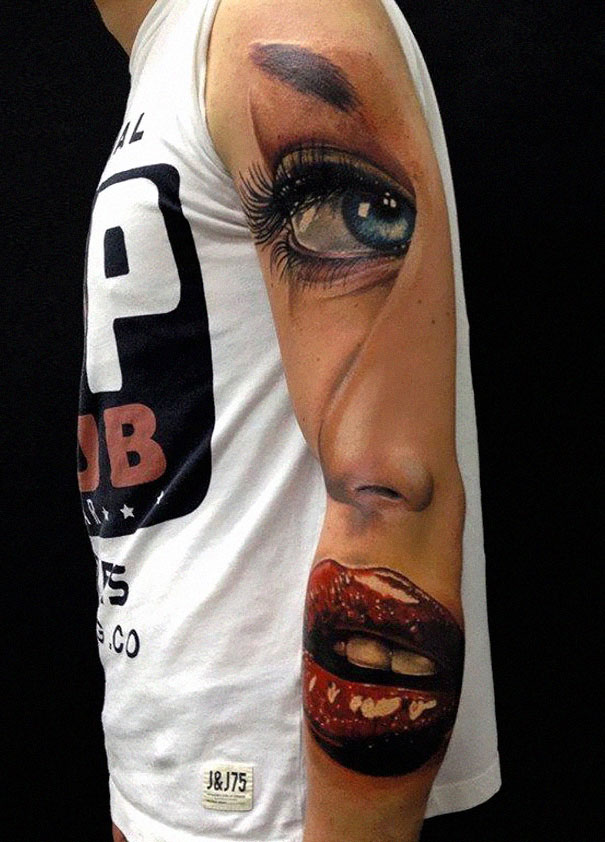 50 impresionantes tatuajes realistas en 3D que te dejarán con la boca abierta. - 36