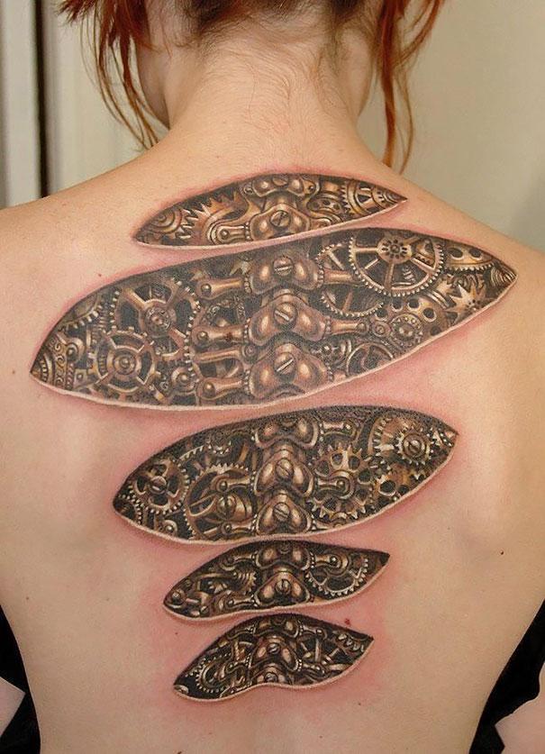 50 impresionantes tatuajes realistas en 3D que te dejarán con la boca abierta. - 9