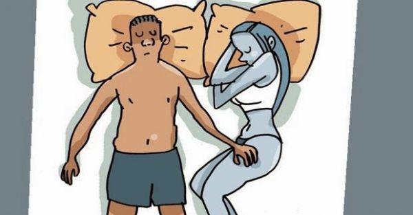 La pareja y el significado de las posiciones en las que duermen - 6