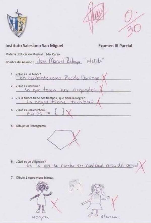 15 Respuestas de exámenes incorrectas pero MUY creativas. - 7